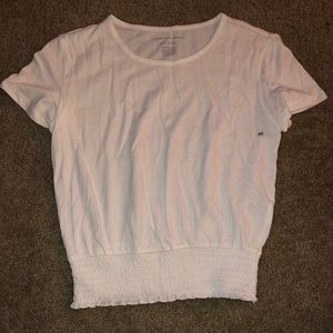 White Scrunched Tee
